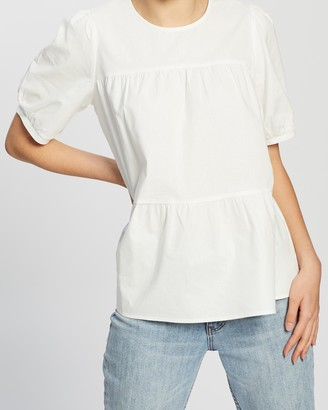 Atmos & Here Modena Cotton Tiered Top