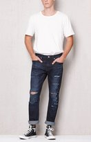 PacSun Slim Ripped Dark Wash Stretch Jeans