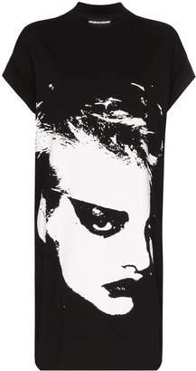 House of Holland monochrome print T-shirt dress
