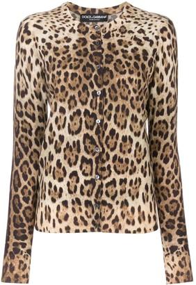 Dolce & Gabbana Leopard Print Cardgian