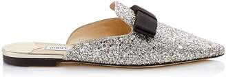 Jimmy Choo Glitter Galaxy Flat Mules