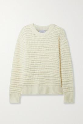 La Ligne Nuage Open-knit Wool And Cashmere-blend Sweater - Cream
