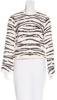Rachel Zoe Embellished Long Sleeve Top