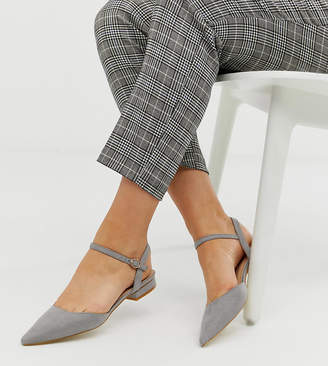 Myla Raid Wide Fit RAID Wide Fit gray ankle strap flat shoes