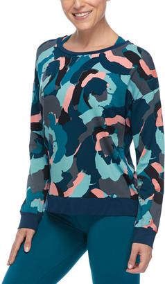 Body Glove Women's Tee Shirts 575_OCEANIC - Oceanic Abstract Cammy Booderee Long-Sleeve Tee - Women