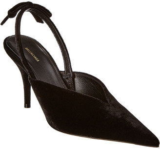Balenciaga Velvet Slingback Pump