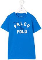 Ralph Lauren logo print T-shirt - kids - Cotton - 10 yrs