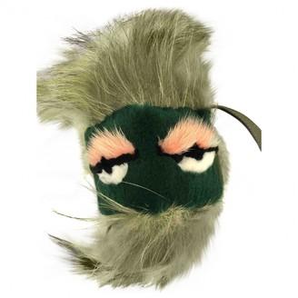 Fendi Bag Bug Green Fur Bag charms
