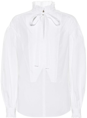 Burberry Tie-neck cotton blouse