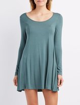 Charlotte Russe Scoop Neck Trapeze Shift Dress