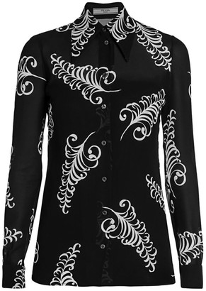 Prada Scroll-Print Blouse
