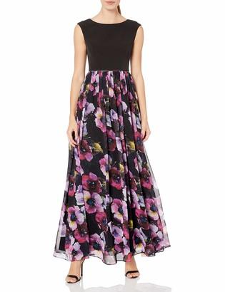 Aidan Mattox Aidan Women's Cap Sleeve Top Prom Dress with Ball Gown Skirt