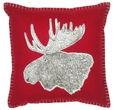 Threshold Moose Throw Pillow with Red Stitching