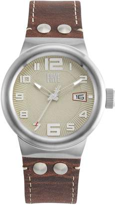Frye Harness Stainless Steel Leather-Strap Watch