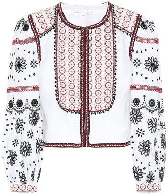 Veronica Beard Shilin embellished linen jacket