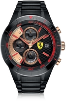 Ferrari Red Rev Evo Black Stainless Steel Men's Chrono Watch