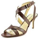 Enrico Lugani Lara75 Women Open Toe Leather Brown Sandals.