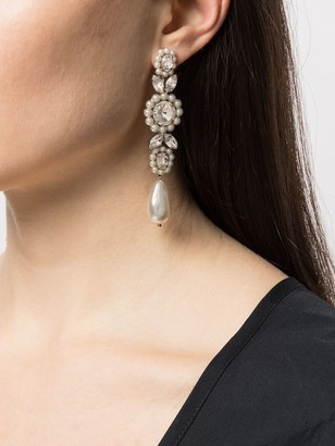 Simone Rocha Crystal-Embellished Drop Earrings