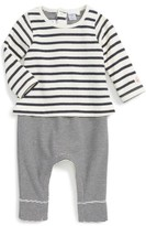 Petit Bateau Infant Boy's Layered Romper