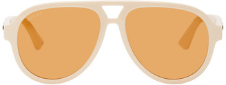 Gucci Beige Aviator Sunglasses