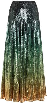 Mary Katrantzou Clement ombre sequined skirt