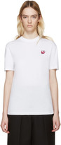McQ by Alexander McQueen White Embroidered T-Shirt