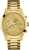 GUESS Men's Chronograph Atlas Gold-Tone Stainless Steel Bracelet Watch 45mm U0668G4