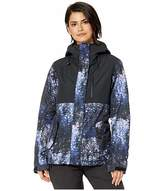 Roxy Jetty 3-N-1 Snow Jacket (Medieval Blue Sparkles) Women's Coat