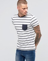 Blend of America Breton Stripe Pocket T-Shirt Blue Nights