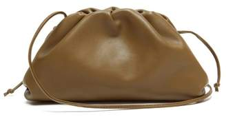 Bottega Veneta The Pouch Small Leather Clutch - Womens - Olive Green