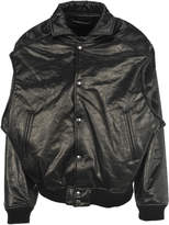 Y/Project Y/project Faux Leather Bomber Jacket