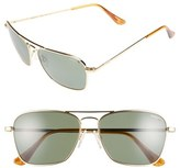 Randolph Engineering Men's 'Intruder' 55Mm Polarized Sunglasses - 23K Gold/ Gray