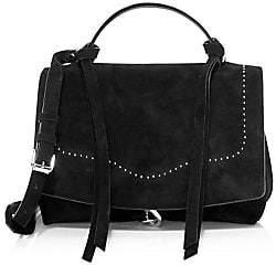 Rebecca Minkoff Women's Stella Suede Satchel Bag