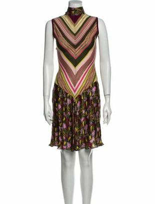 Missoni Striped Mini Dress Green