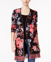 INC International Concepts Floral-Print Cotton Cardigan, Only at Macy's