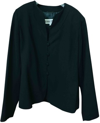 Cerruti Black Wool Jacket for Women Vintage