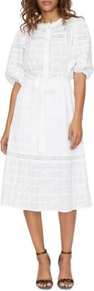 Sanctuary Peninsula Heirloom Cotton Eyelet Midi Dress