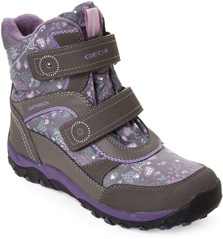 Purple geox kids boots