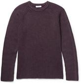Boglioli Ribbed Wool, Silk And Cashmere-blend Sweater - Burgundy