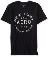 Aeropostale Mens Ny Aero Original Brand Logo Graphic T Shirt Black