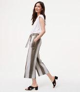 LOFT Stripe Belted Culottes