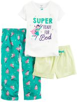 Carter's Girls 4-14 3-pc. Print Pajama Set