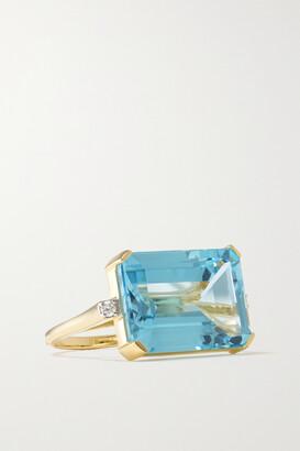 Mateo 14-karat Gold, Topaz And Diamond Ring - 6
