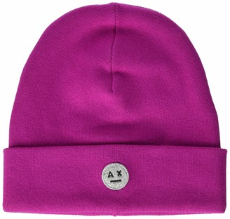 Ax Armani Exchange A|X Armani Exchange Women's AX Smiley Face Patch Knitted Cotton Beanie