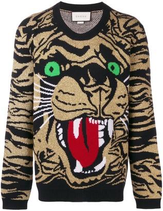 Gucci metallic tiger sweater