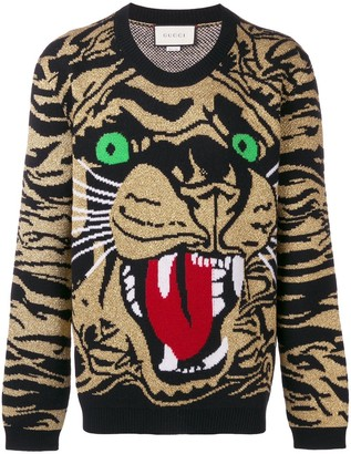 Gucci Metallic Tiger Sweater