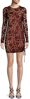 Bailey 44 Ruched Lace Sheath Dress