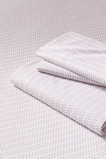 Lands' End 200-count Percale Printed Zigzag Fitted Sheet