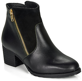 So Size FELICIO women's Low Ankle Boots in Black