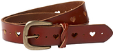 Fat Face Ella Heart Leather Belt, Tan